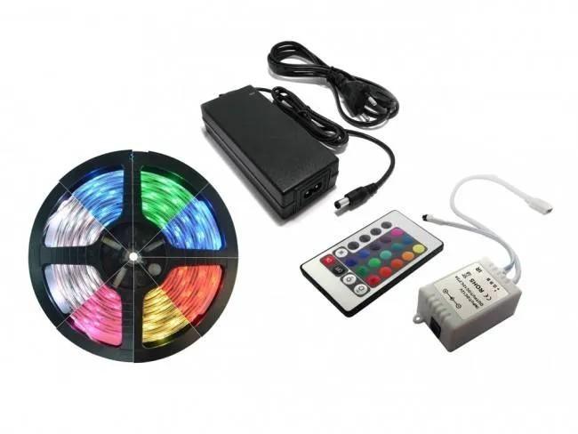 KIT - FITA RGB 5m + FONTE