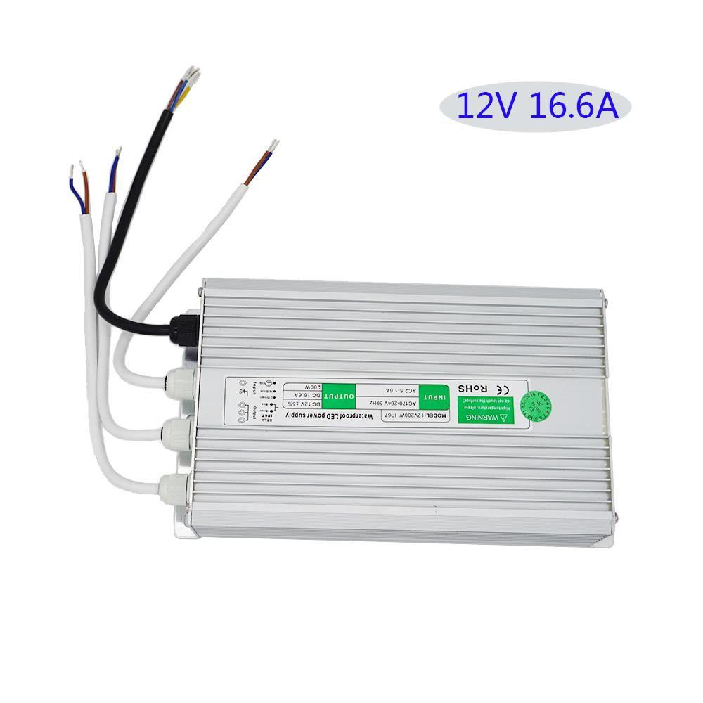 Fonte Blindada 12V 16.6A 200W IP67 220V