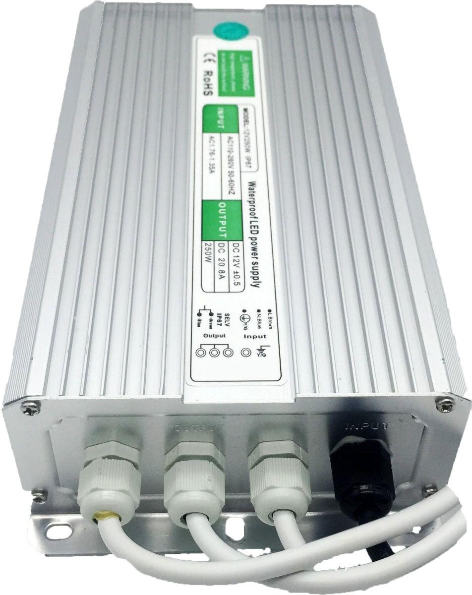 Fonte Blindada 12V 20.8A 250W IP67 220V