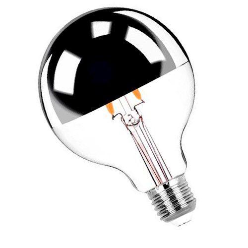 Lâmpada Filamento LED Refletora 6W G80 E27 Bivolt Branco Quente 2200K