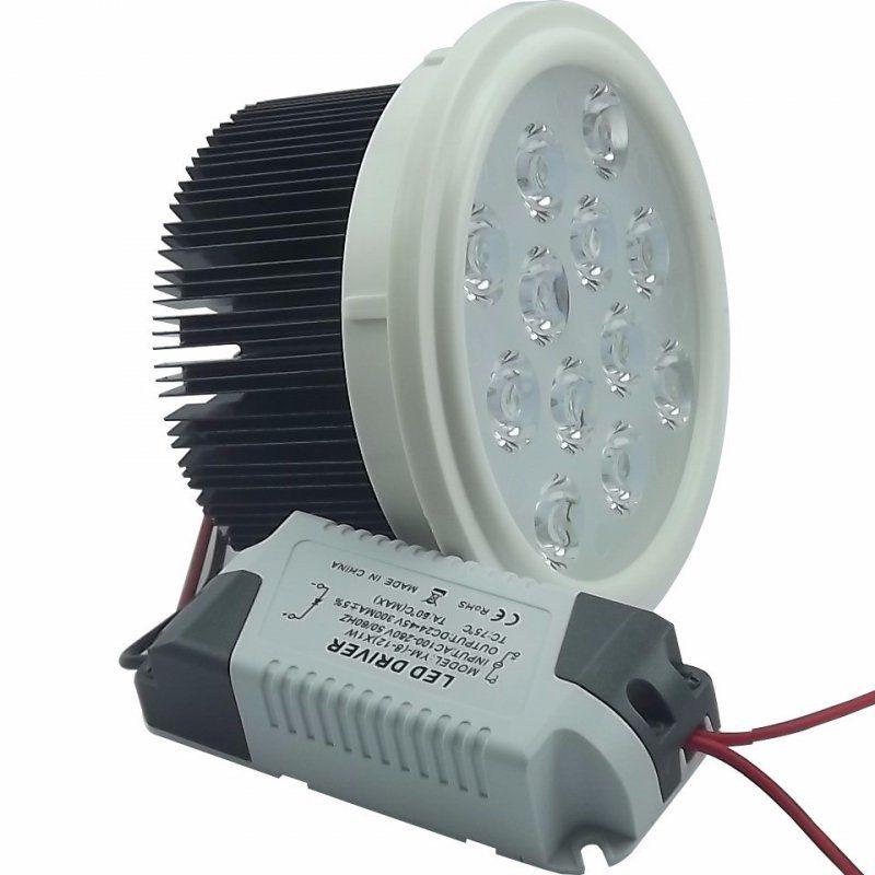 Lâmpada LED AR111 12w SMD Driver Bivolt Branco Quente 3000K