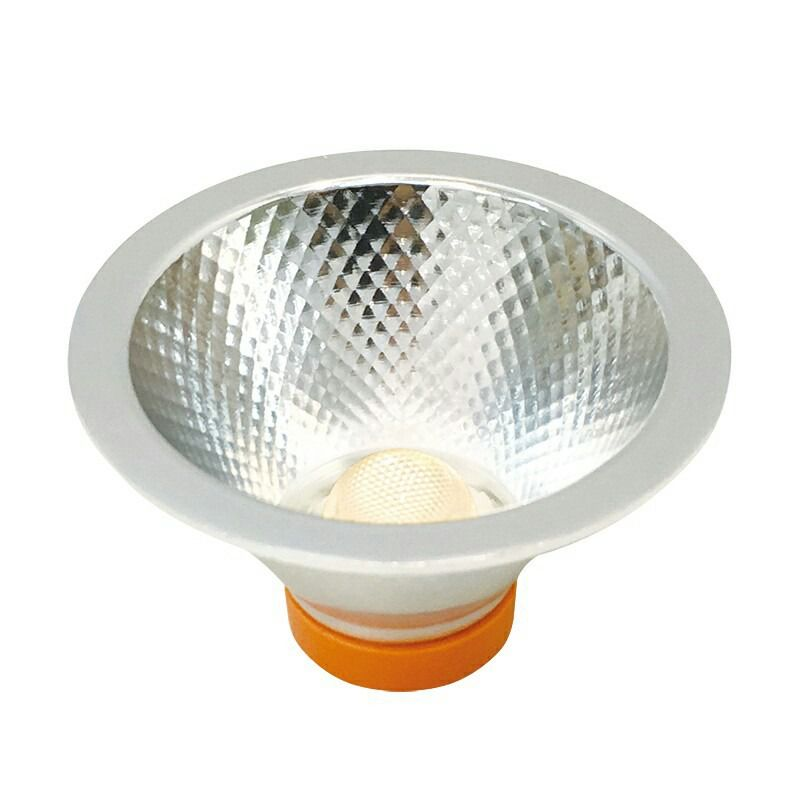 LAMPADA LED AR70 7W COB DRIVER 127V DIMERIZAVEL - BRANCO QUENTE 3000K