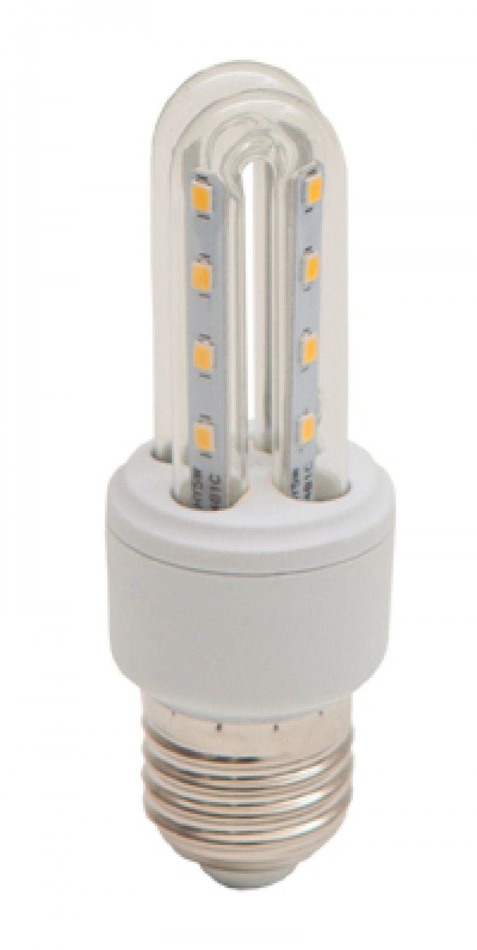 LAMPADA LED COMPACTA 2U 3W E27 BIVOLT - BRANCO FRIO 6000K