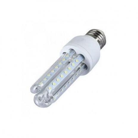 LAMPADA LED COMPACTA 3U 7W E27 BIVOLT - BRANCO FRIO 6000K