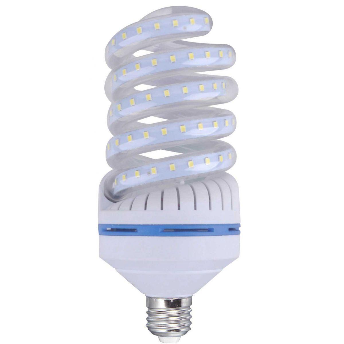 LAMPADA LED COMPACTA ESPIRAL 12W E27 BIVOLT - BRANCO FRIO 6000K