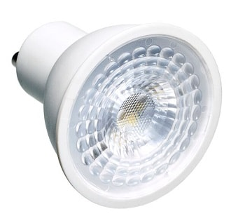 Lâmpada LED Dicroica 6W COB GU10 Bivolt - Branco Quente 3000K