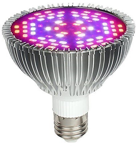 Lâmpada LED Grow 50W E27 Full Spectrum Bivolt 110/220V