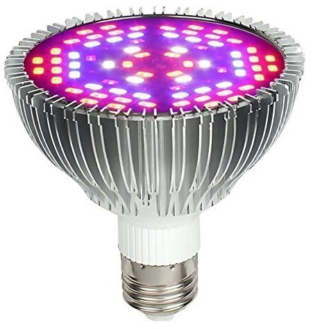 Lâmpada LED Grow 80W E27 Full Spectrum Bivolt 110/220V