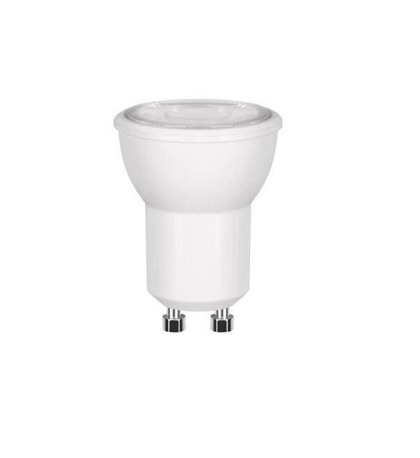 LAMPADA LED MINI DICROICA 3W COB GU10 BIVOLT - BRANCO QUENTE 3000K