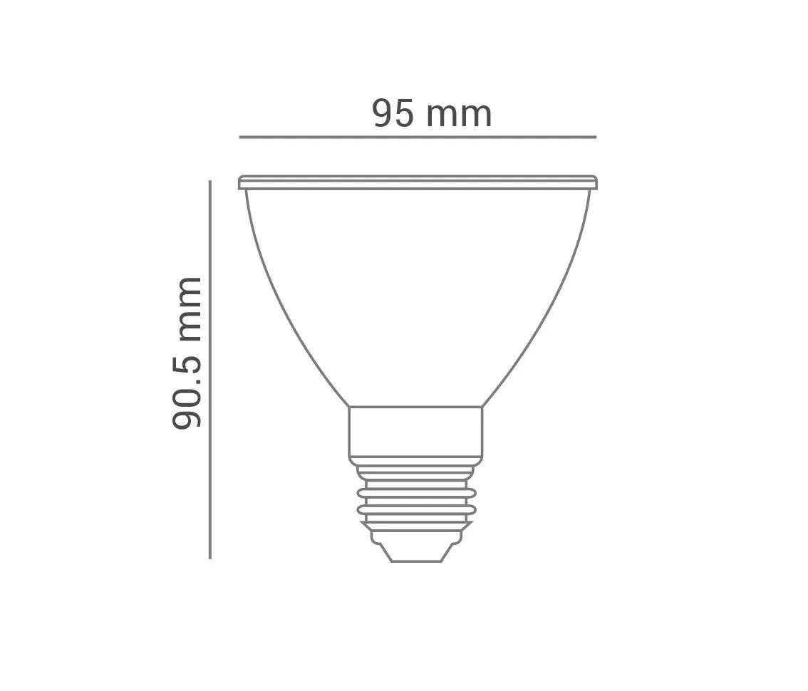 Lâmpada LED PAR30 11W E27 Bivolt Branco Quente 2700K