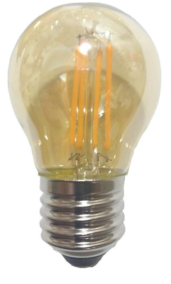 Lâmpada Retrô Filamento LED 4W G45 E27 Bivolt Branco Quente 2300K