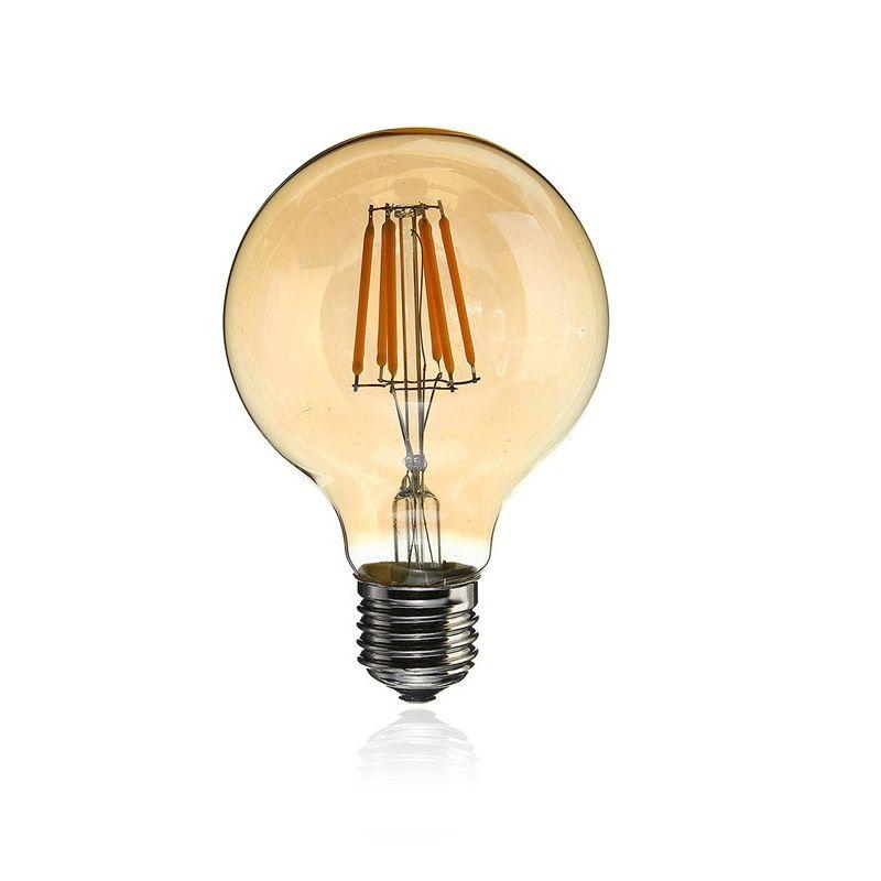 Lâmpada Retrô Filamento LED 6W G95 E27 Bivolt Branco Quente 2200K
