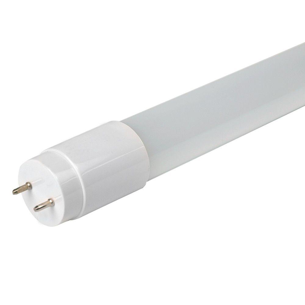 Lâmpada Tubular LED T8 10W 60CM Vidro 1L 900LM Bivolt Branco Frio 6500K