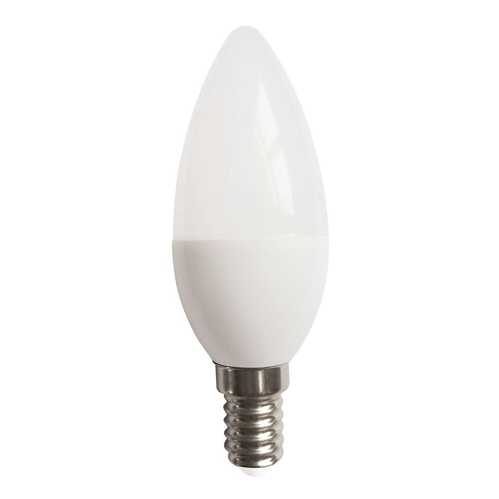 LAMPADA VELA LED 4.8W E14 BIVOLT - BRANCO QUENTE 3000K