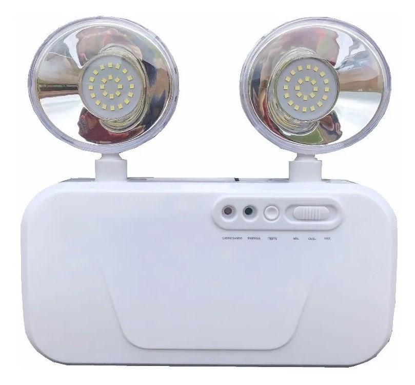 Luminária de Emergência 2 Faróis - 2200 Lumens BIVOLT