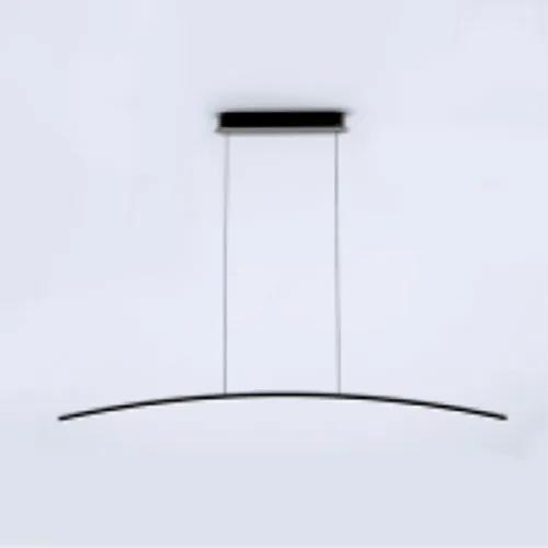 Lustre Pendente Arco 18W Preto  - 3000K  Branco Quente