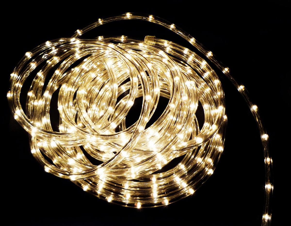 Mangueira LED Redonda  IP65 127V Branco Quente 3000K 100M