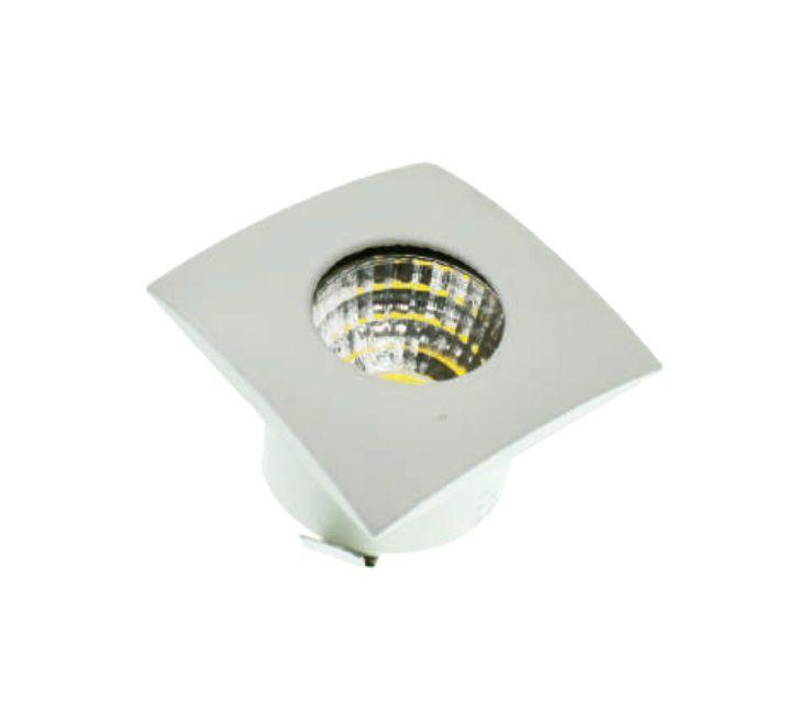 MINI SPOT LED DOWNLIGHT COB 3W 32X32MM QUADRADO BIVOLT - BRANCO QUENTE 3000K