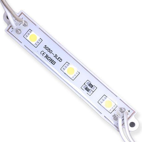 Modulo de LED SMD5050 3 LEDS 0,72W IP65 12V - BRANCO FRIO 6500K