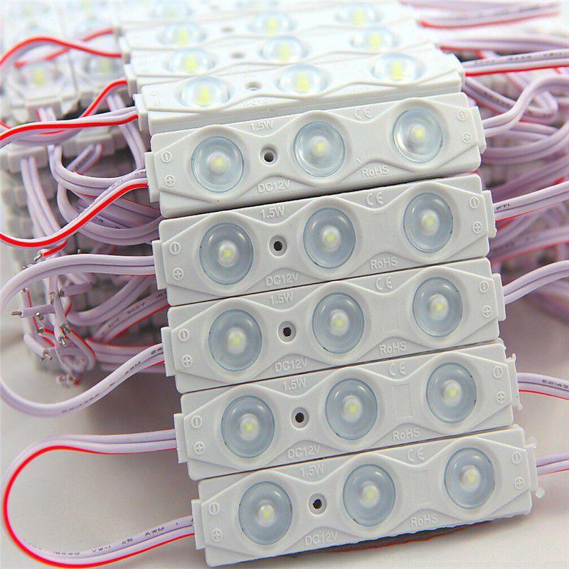 Modulo LED SMD2835 3 LEDs 1.5W IP67 12V Branco Frio 6500K