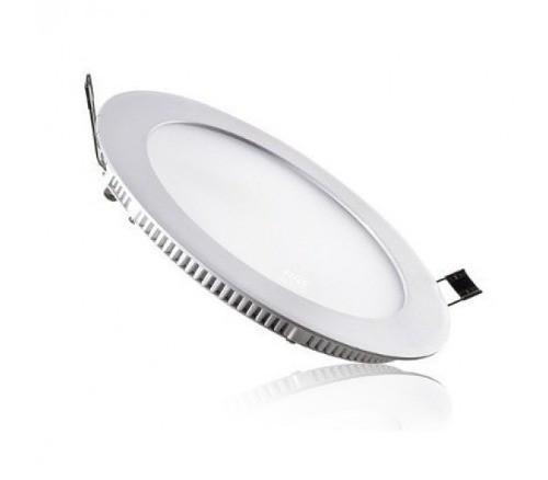 Painel LED Embutir 12W ∅ 17CM Redondo Bivolt Branco frio 6500K