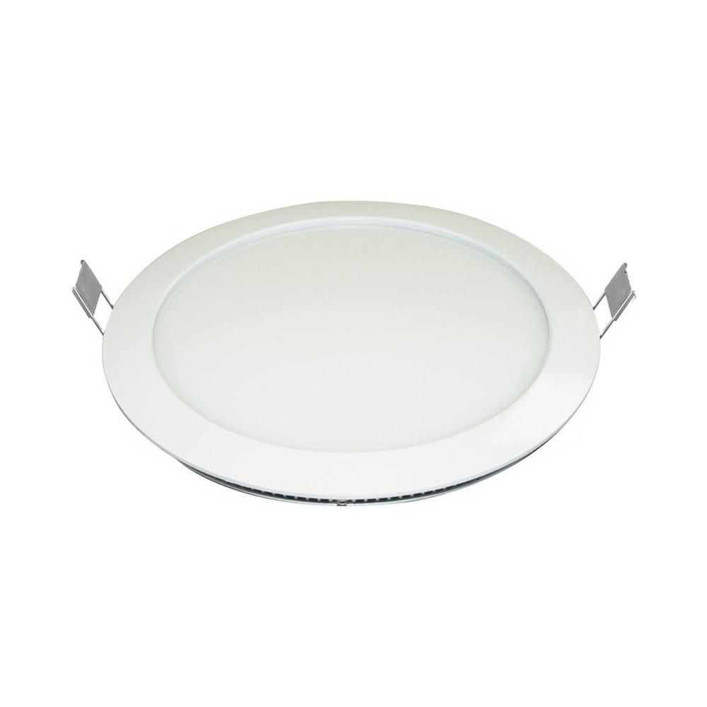 Painel LED Embutir 18W ∅ 22CM Redondo Bivolt Branco Frio 6000K