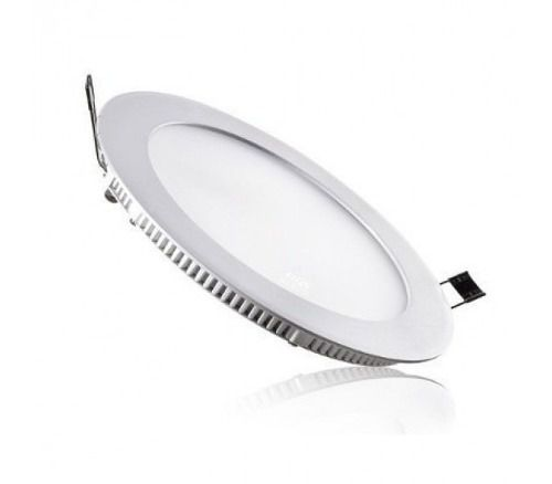 Painel LED Embutir 18W ∅ 22CM Redondo Bivolt Branco Quente 3000K