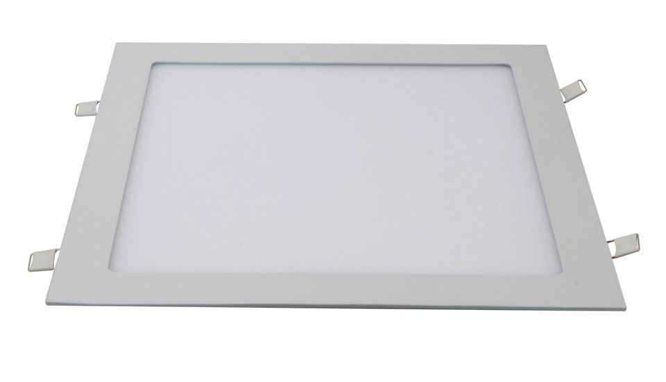 Painel LED Embutir 24W 30X30CM Quadrado Bivolt - Branco Quente 3000K