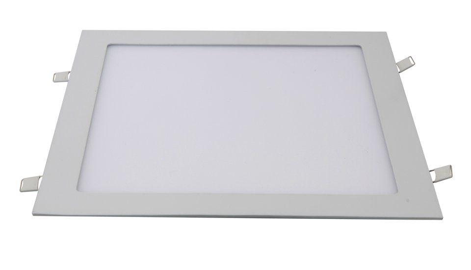 Painel LED Embutir 36W 40X40CM Quadrado Bivolt - Branco Quente 3000K