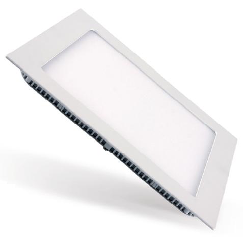 Painel LED Embutir 6W 12X12CM Quadrado Bivolt - Branco Frio 6000K