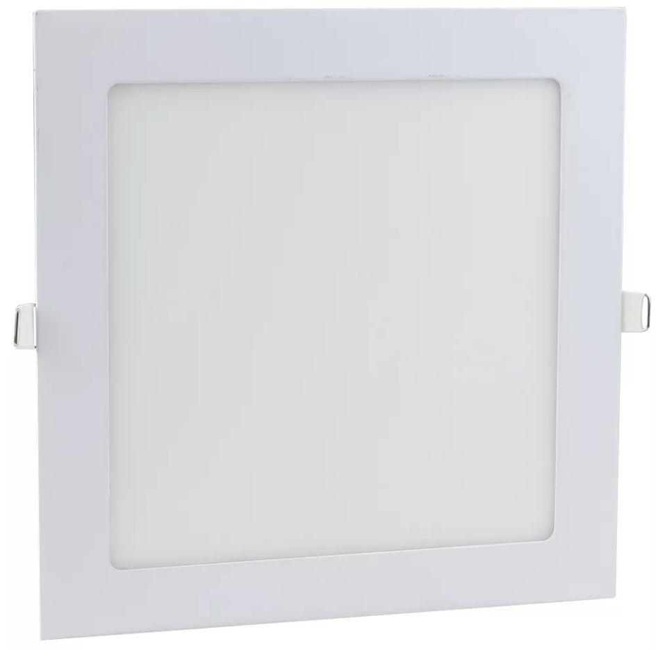 Painel LED Embutir 6W 12X12CM Quadrado Bivolt - Branco Quente 3000K