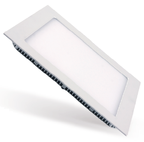 Painel LED Embutir Dimerizável 18W 22X22CM Quadrado 110V - Branco Frio 6000K