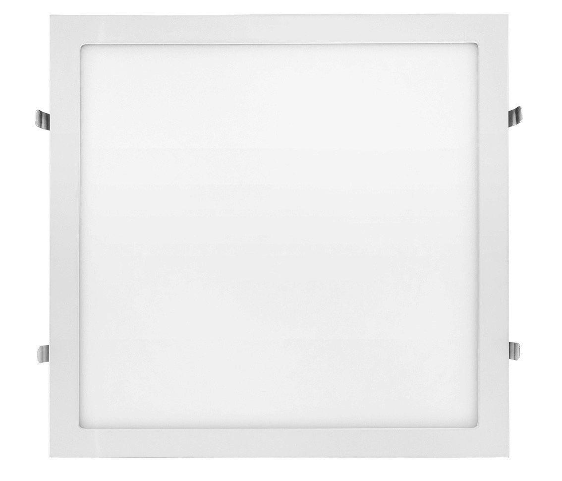 Painel LED Embutir Dimerizável 25W 30X30CM Quadrado 110V - Branco Quente 3000K