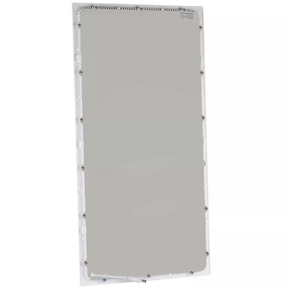 Painel LED Embutir Modular 40W 32X62CM Retangular Bivolt - Branco Quente 3000K