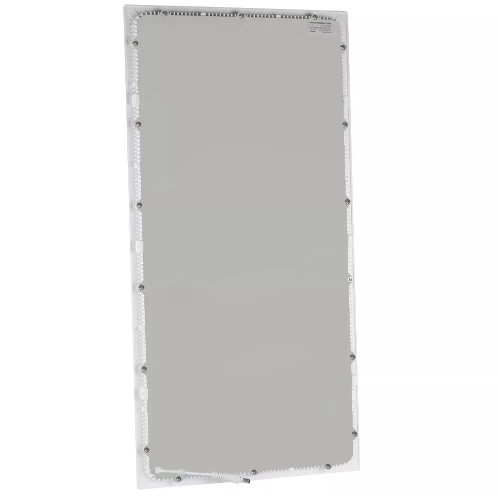 PAINEL LED EMBUTIR MODULAR 50W 32X122CM RETANGULAR BIVOLT - BRANCO FRIO 6000K