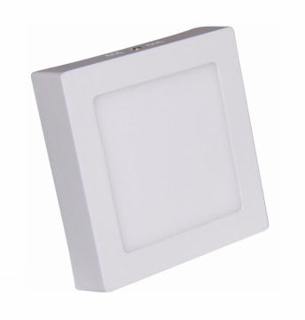 Painel LED Sobrepor 18W 22X22CM  Quadrado Bivolt - Branco Neutro 4000K