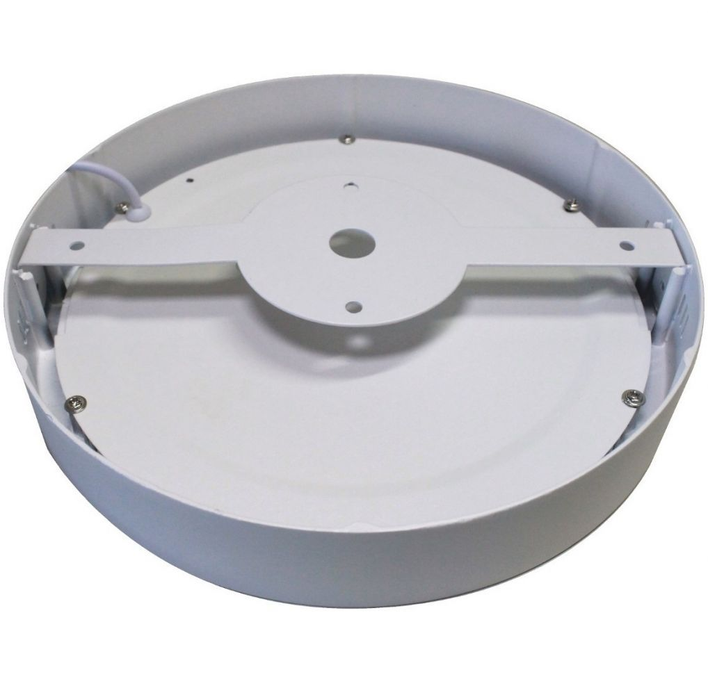 Painel LED Sobrepor 18W ∅ 22CM Redondo Bivolt - Branco Frio 6000K