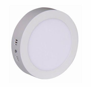 Painel LED Sobrepor 24W ∅ 30CM Redondo Bivolt Branco Quente 3000K
