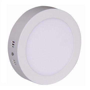 Painel LED Sobrepor 24W ∅ 30CM Redondo Bivolt - Branco Frio 6000K