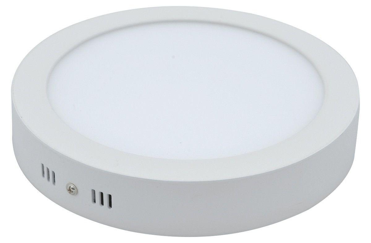 Painel LED Sobrepor 24W ; 30CM Redondo Bivolt - Branco Neutro 4000K
