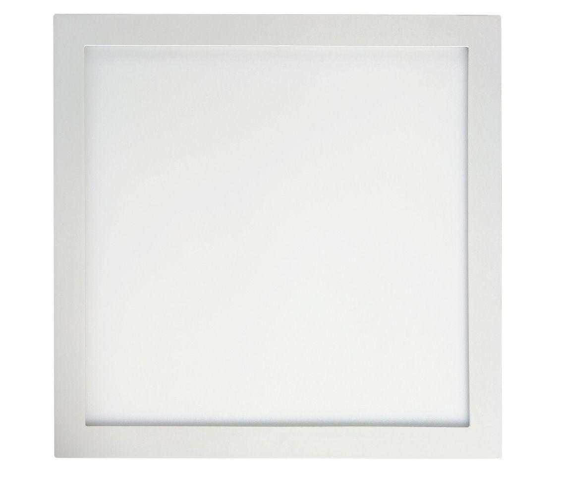 Painel LED Sobrepor 48W 60X60CM Quadrado Bivolt - Branco Frio 6000K