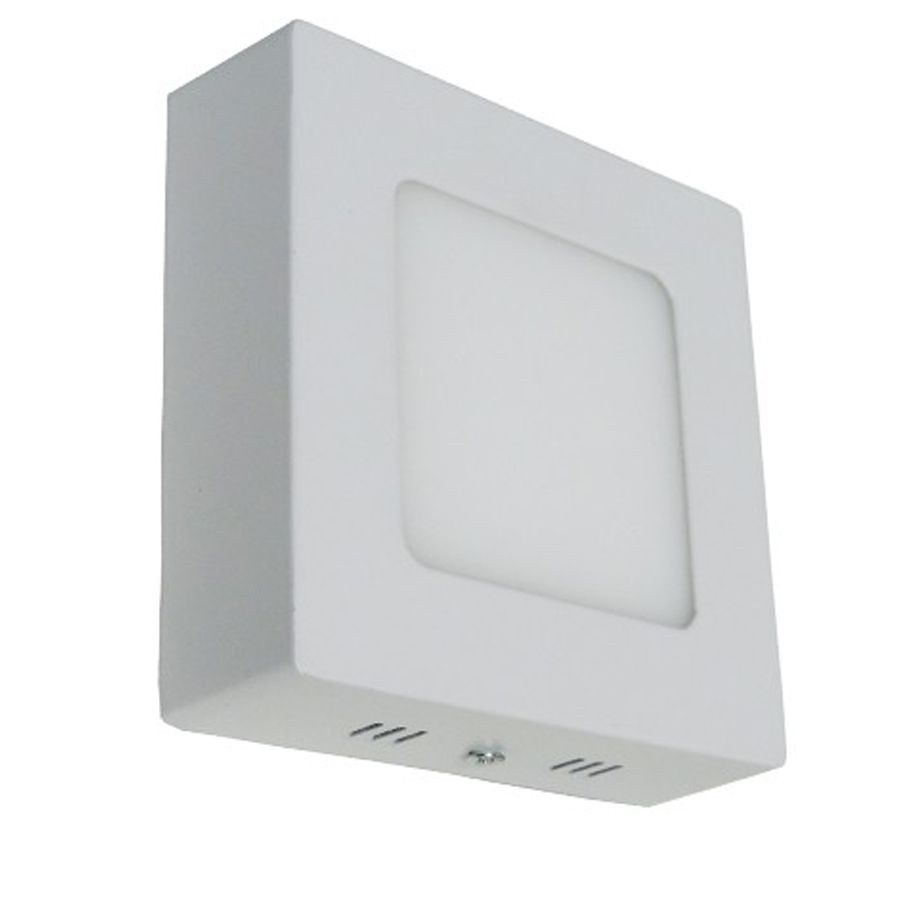 Painel LED Sobrepor 6W 12X12CM Quadrado Bivolt - Branco Frio 6000K