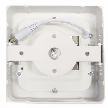 Painel LED Sobrepor 6W 12X12CM Quadrado Bivolt - Branco Quente 3000K