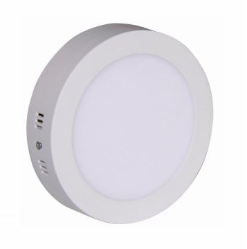 Painel LED Sobrepor 6W ∅ 12CM Redondo Bivolt - Branco Frio 6000K