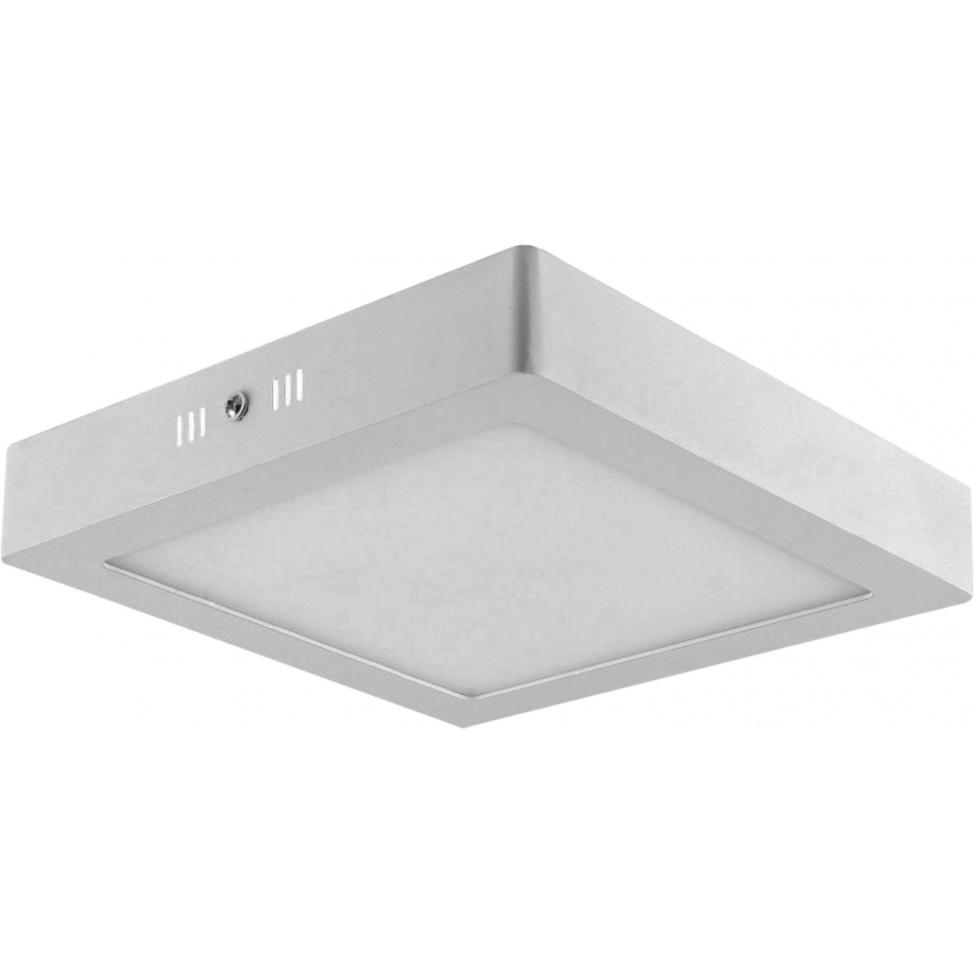 Painel LED Sobrepor Dimerizável 18W 22X22CM Quadrado 110V  - Branco Quente 3000K