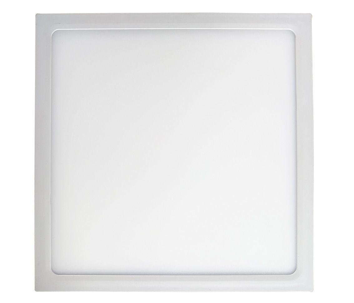 Painel LED Sobrepor Dimerizável 24W 30X30CM Quadrado 110V  - Branco Neutro 4000K