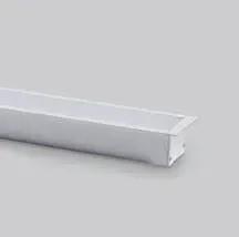 Perfil Embutir Para Fita LED Barra 2 Metros Branco 28mm
