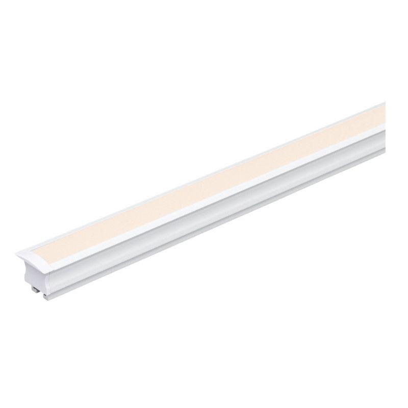 Perfil Embutir Para Fita LED Barra 2 Metros Branco 25x14mm