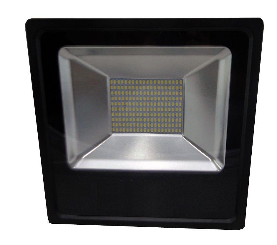REFLETOR LED 100W REAL IP66 SMD BIVOLT - BRANCO QUENTE 3000K