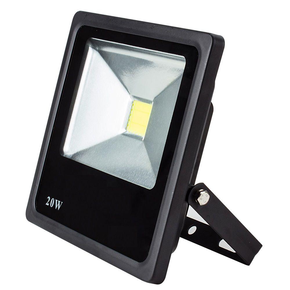 Refletor LED 20W Real IP66 COB Bivolt Branco Frio 6500K